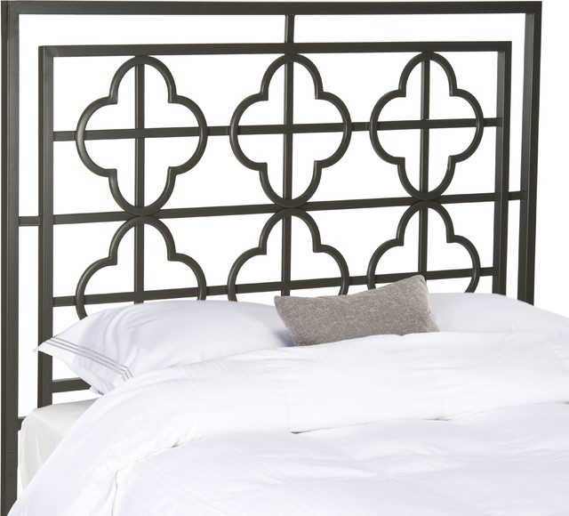 Safavieh Lucina Gunmetal Headboard, Queen.