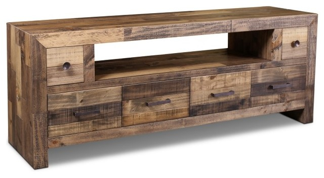 Rustic Style Fulton TV Stand Rustic Entertainment Centers - Tv stands