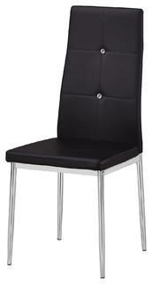 Trina Modern Living Side Chairs, Set of 2, Black