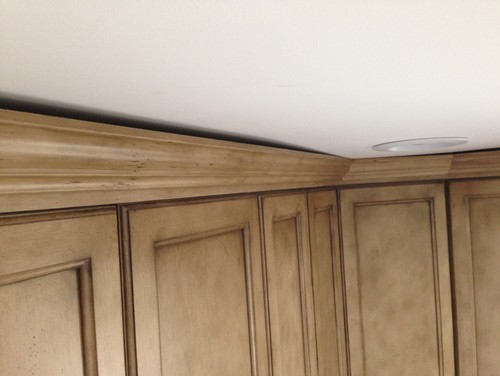 molding design install kitchen crown to how cabinet
