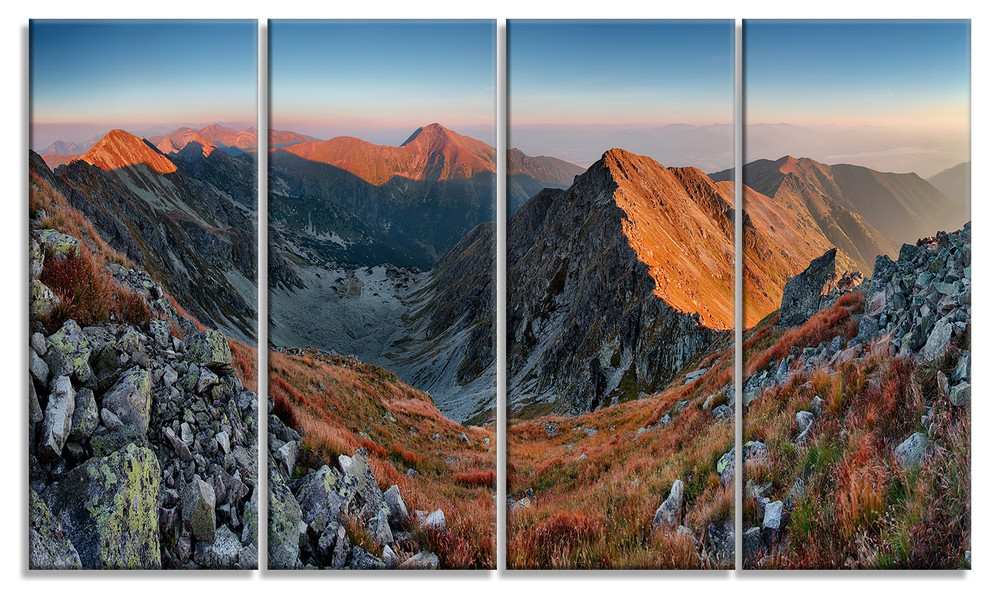 Rocky Slovakia Mountains Landscape Wall Canvas Print Contemporary Prints And Posters By Design Art Usa