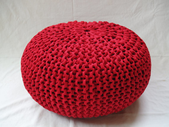 Knitted Pouffe Pattern : Hand-Knitted Pouf Ottoman by Helaska - Contemporary - Floor Pillows And Poufs...