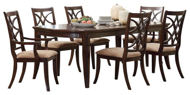 homelegance keegan 7 piece dining room set in brown cherry 7 piece dining room sets