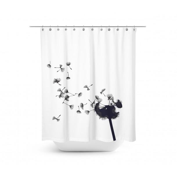 Home Junkie Dandelion Shower Curtain Contemporary Shower