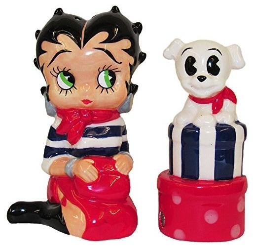 Merveilleux Kurt Adler Betty Boop Salt/Pepper Shaker Set