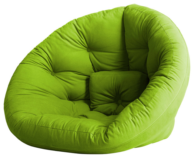 Nest Convertible Futon Chair Bed Lime Mattress