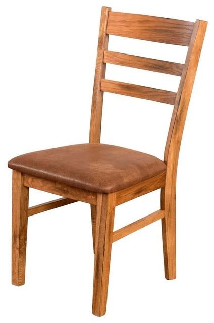 Prescott Cushioned Ladder-Back Side Dining Chair.