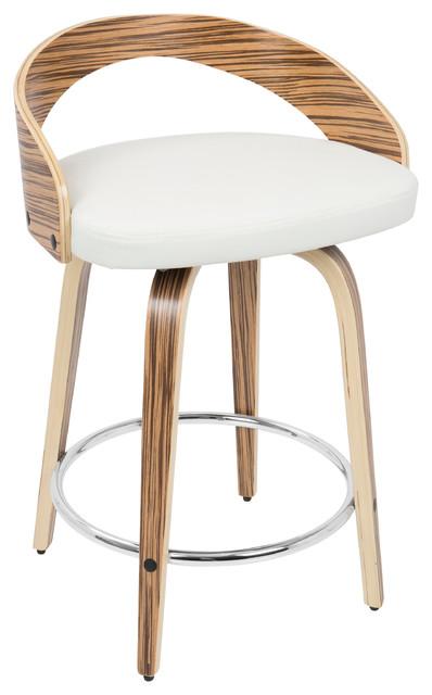 Phenomenal Grotto Counter Stool Zebra White Cjindustries Chair Design For Home Cjindustriesco