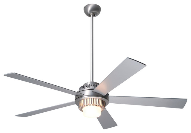 "Modern Fan Solus Led-Light Brushed Aluminum 52"" Ceiling Fan With Remote Control"