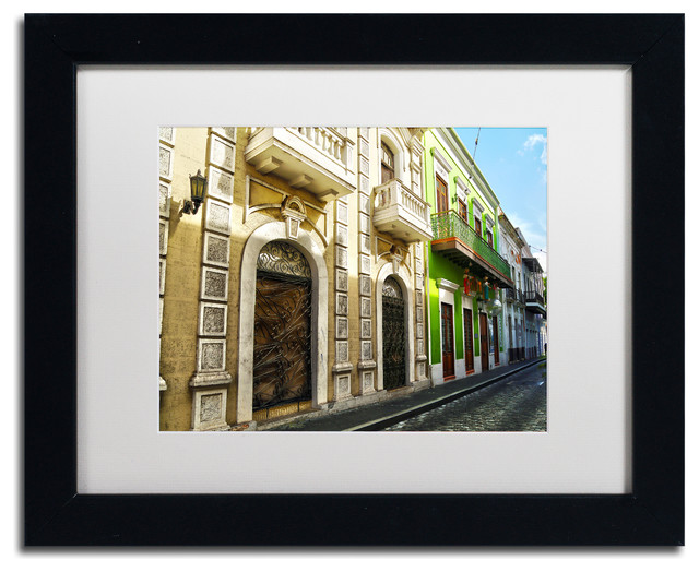 Old San Juan Wall Decor : Cateyes old san juan matted framed art traditional