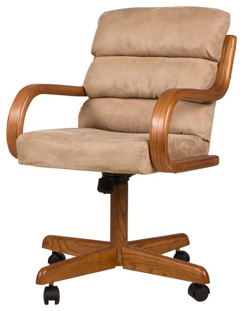 Baronne Swivel Office Chair, Brown.