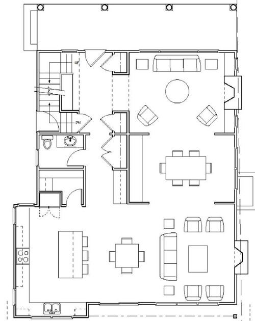 Would love help with floor plan. Mud room vs bigger kitchen