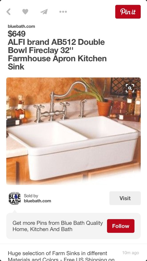 Divided Apron Front Sink