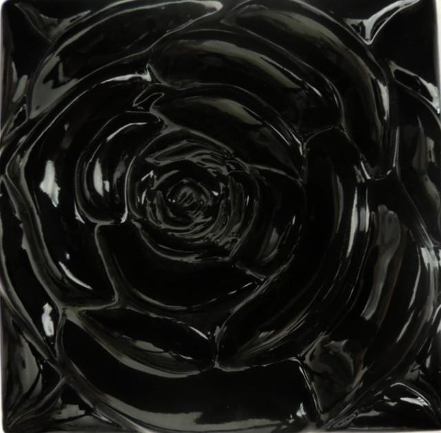 Black Rose Black Rose Tile Contemporary Tile By J