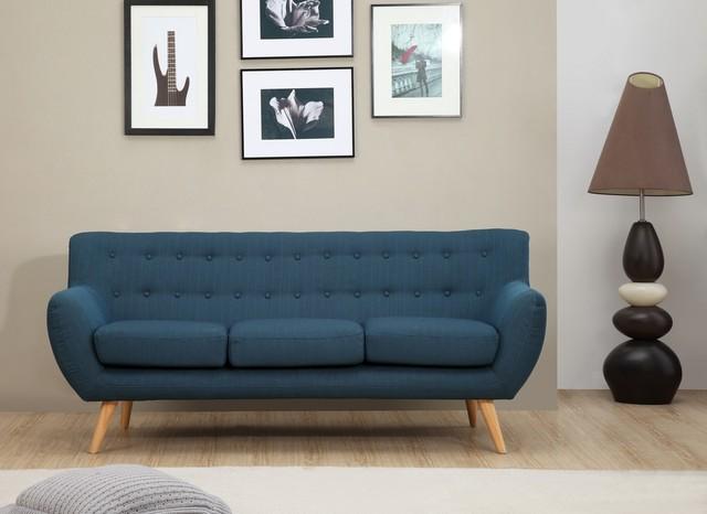 Sixties 3 Seater Sofa   Petrol Blue