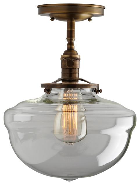 10 Quot Clear Acorn Schoolhouse Light Fixture Semi Flush Mount