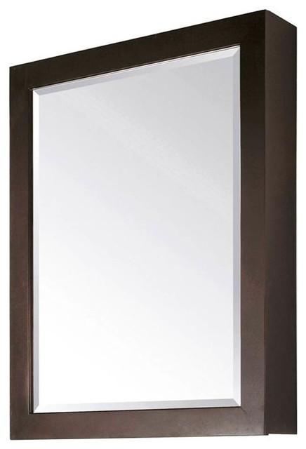 Amazing  25 Inch Mirror In Espresso Finish  Bathroom Mirrors  By KnobDeco