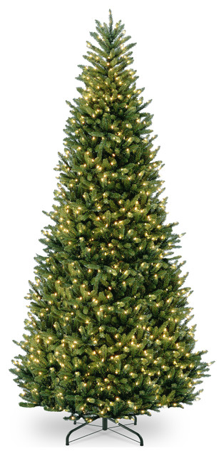 Natural Fraser Slim Fir Tree With Clear Lights, 12'