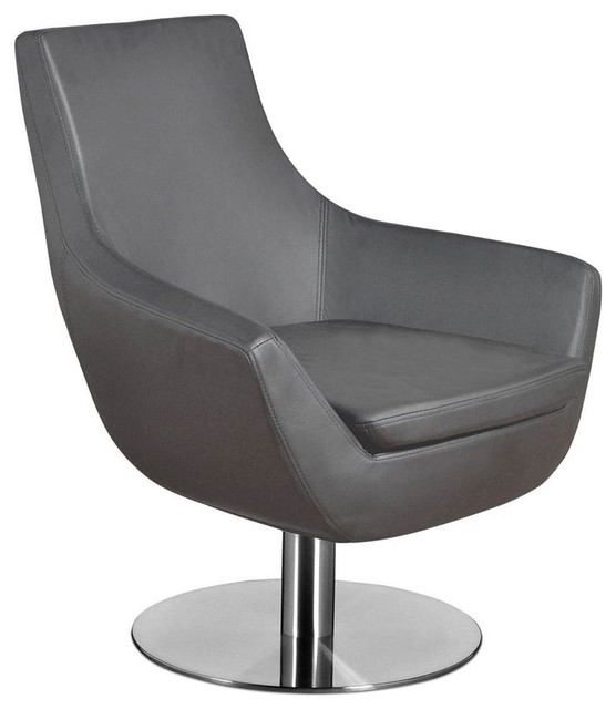 Modern Lounge Chair Gray Contemporary Armchairs And Accent Chairs by S