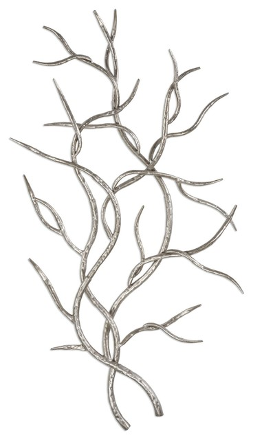 Uttermost Silver Branches Wall Art, Set of 2