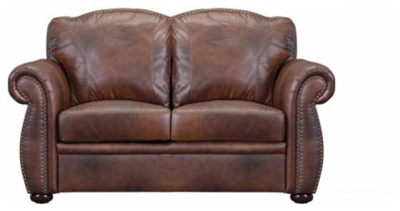 Leather Italia Usa Cambria Arizona Loveseat, Marco 1444-6110-0204234.