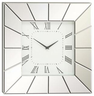 brimfield u0026 may wood mirror wall clock wall clocks