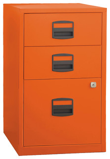 Three Drawer Steel Home or Office Filing Cabinet - Modern - Filing ...