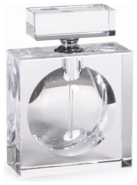 Modern Morocco Glass Perfume Bottle, Rectangle ...