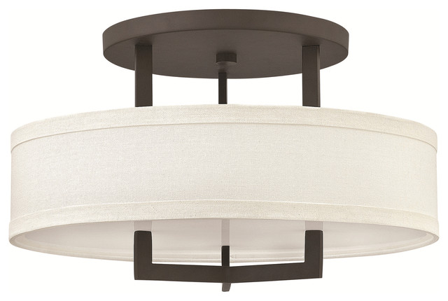 Hinkley Lighting 3201kz, Hampton Semi Flush Mount Light, Buckeye Bronze.