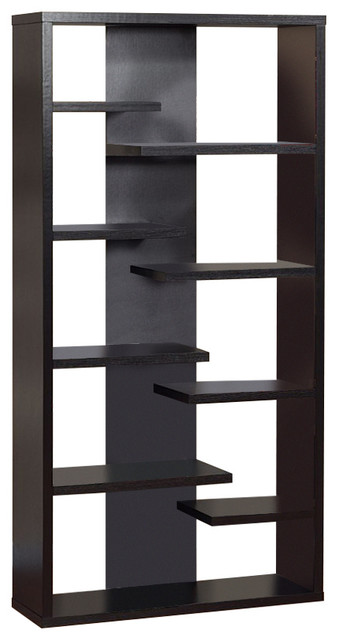 Well Designed Contemporary Bookcase, Black.