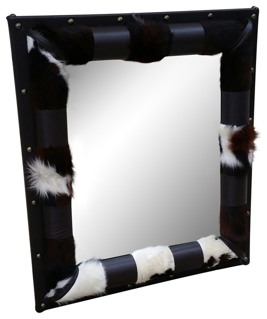 Bunkhouse Cowhide Mirror Large Rustic Wall Mirrors