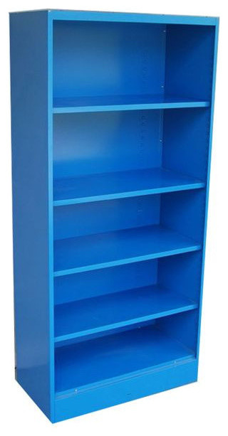 Blue Bookcase sold out! blue vintage metal bookcase - 1970's - $625 est. retail