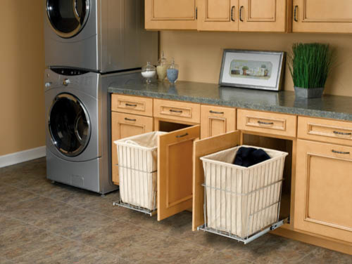 Pull Out Laundry Room Hampers Traditional