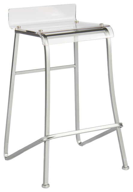 Swayze Counter Stool, Silver.