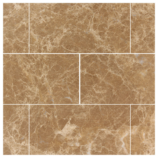 White carrera marble bathroom - 3 Quot X6 Quot Light Emperador Marble Polished Subway Tiles Set Of