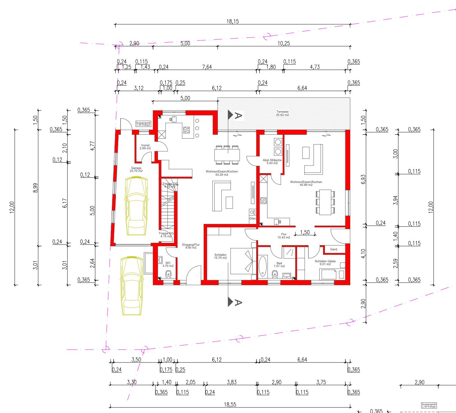 Grundriss EG des Bauträgers