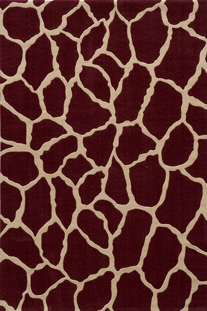Momeni Deco Animal Prints Leopard Burgundy 2u0027x3u0027 Rug Area Rugs