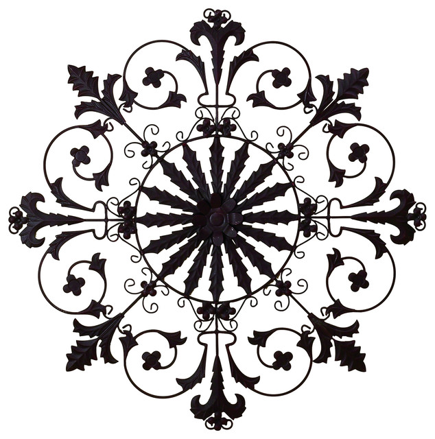 Metal Medallion Wall Art medallion wall grille - traditional - metal wall art -dr