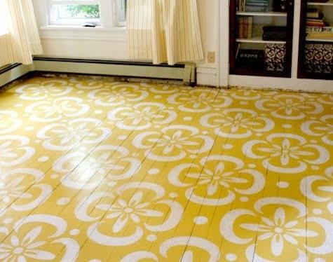 moroccan tile stencil floor
