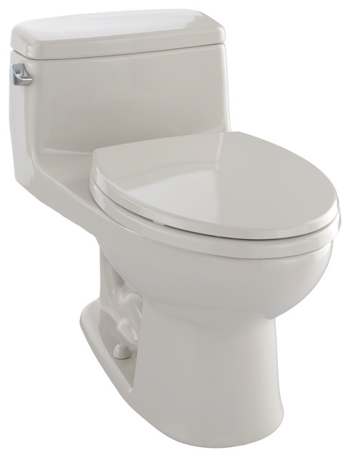 Toto Supreme Elongated 1 Piece Toilet Ms864114e 01 Traditional Toilets By Buildcom
