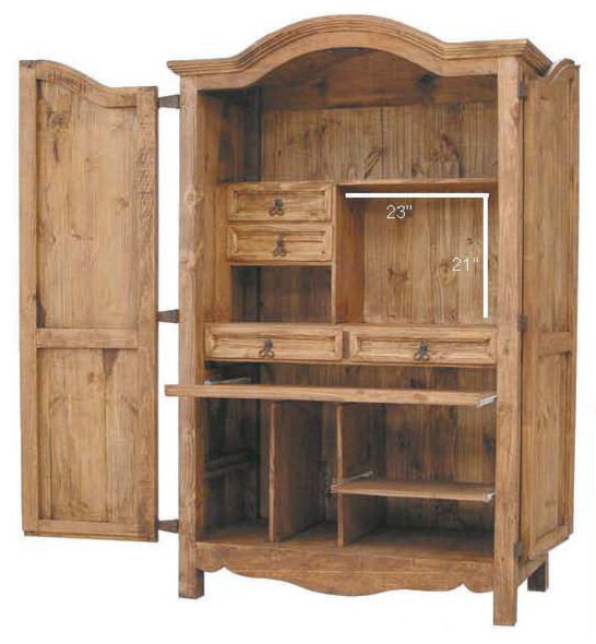 classic computer armoire