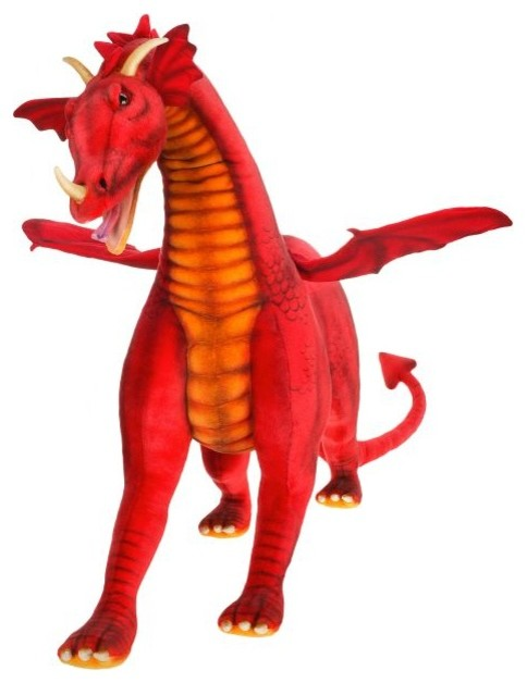 Hansa Toys Ride On Dragon Stuffed Animal Contemporary Kids Toys