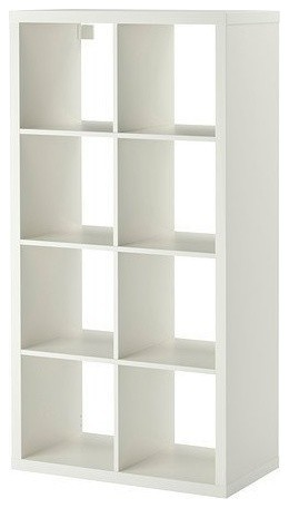 Display Shelving Unit, MDF With 6-Compartment, Simple Modern Design, White