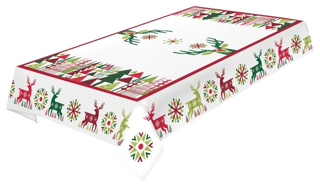 Laural Home Geometric Christmas Tablecloth   Rustic   Tablecloths   By  Laural Home