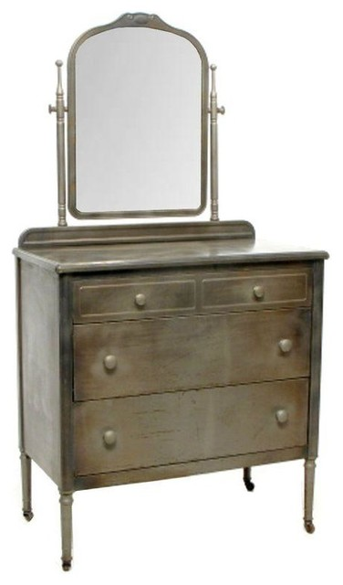 Norman Bel Geddes Antique Metal Dresser Dressers