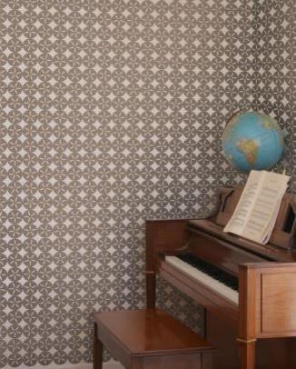 Maggie Wallpaper, Mocha And Cream