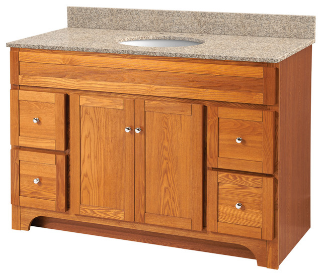 Worthington 24 Quot Oak Bathroom Vanity Rustic Bathroom