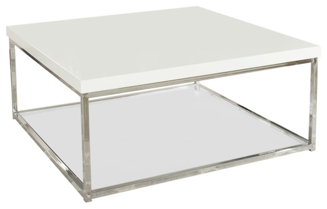 Malone Coffee Table, White Contemporary Coffee Tables