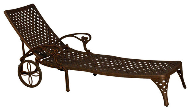 Patio retreat kokomo single chaise lounge view in your for Barcelona chaise lounge set