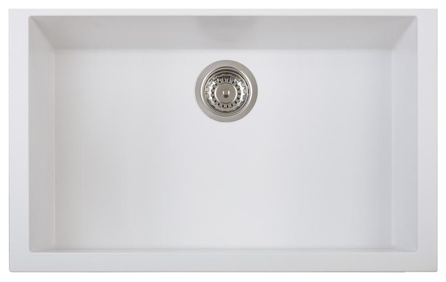 "Pogno Plados 30""x18"" Single Basin Granite Kitchen Undermount Sink"
